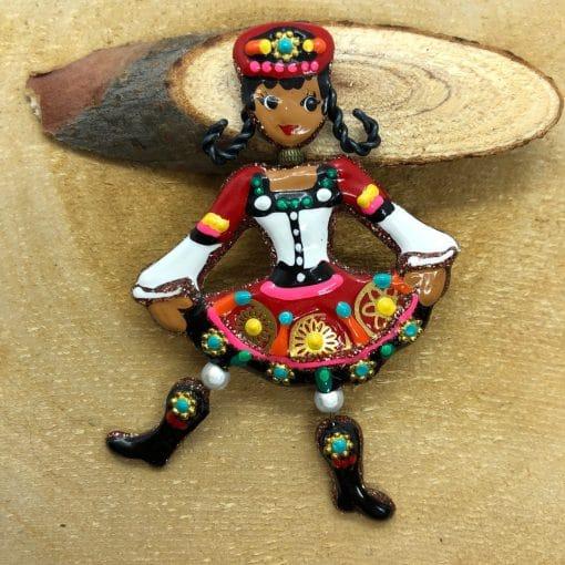 Broche danseuse russe.1