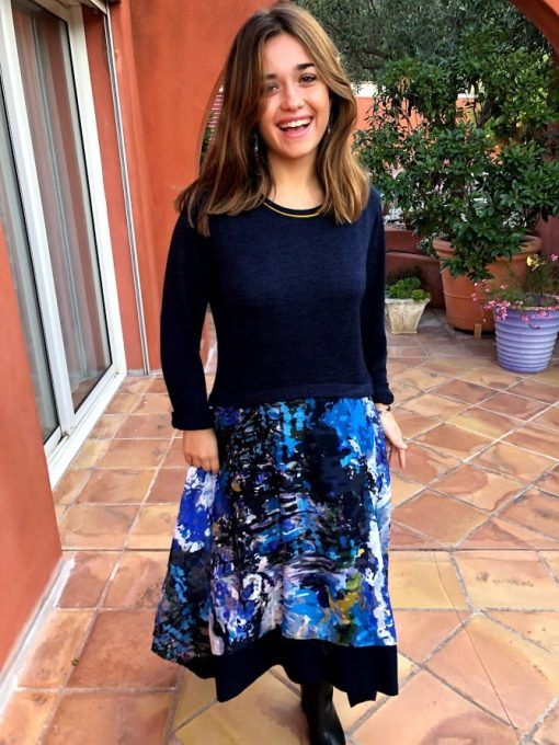 Robe pull bleue Maloka
