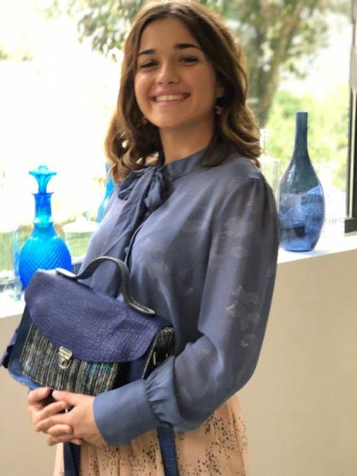 Chemisier bleu irisé Art Love