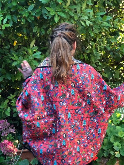 Kimono TU reversible roses des vents Marie Antoilette.3