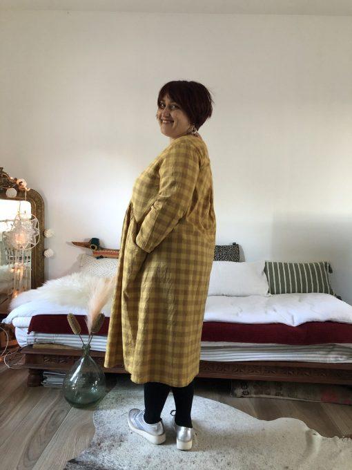Robe jaune à carreaux .3