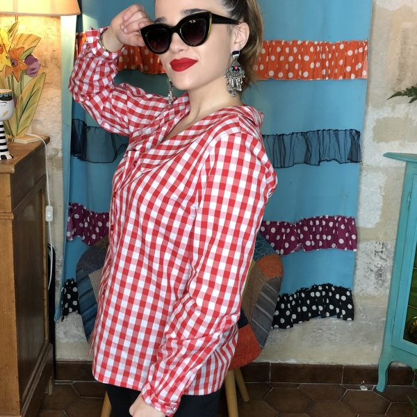 Chemise vichy rouge Hippocampe.3